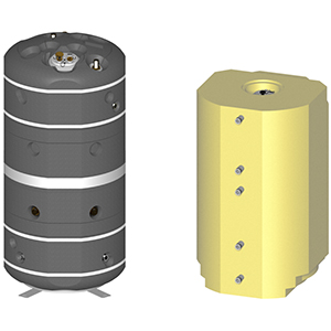 Boilers for floor-mounted heaters