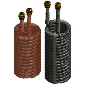 Serpentini alettati in rame per lavasecco e lavametalli