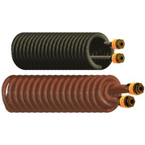 Serpentini alettati in rame serie standard